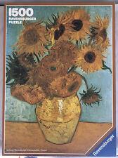 Ravensburger Sunflowers Van Gogh 1500 Piece Vintage Puzzle NEW Sealed In Plastic