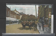 Postcard oxen Yarmouth Ns Canada 1929 bicycle