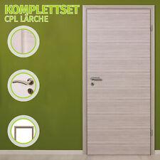 HORI Zimmertür Innentür Komplettset CPL Lärche Tür mit Zarge Türgriff Rebon