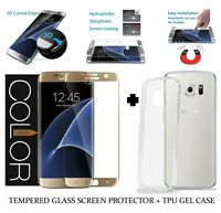 For Samsung Galaxy S6 Edge Full Curved Tempered Glass LCD Screen Protector Gold