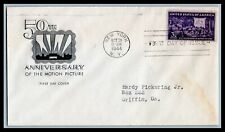 US FDC  # 926  3c Motion Picture  ?? addressed, 9a428