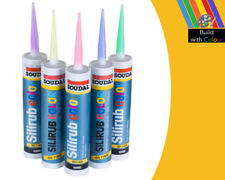 Traffic Yellow Colour Silicone Sealant Soudal 310ml RAL1023 Indoor & Outdoor use