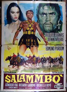 manifesto 4F film SALAMMBO' Jacques Sernas Jeanne Valerie Edmund Purdom 1961