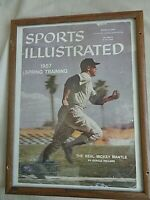 Mickey Mantle Sports Illustrated March 4, 1957 Framed Cover