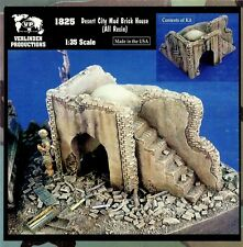 VERLINDEN 1825 - DESERT CITY MUD BRICK HOUSE - 1/35 CERAMIC RESIN KIT