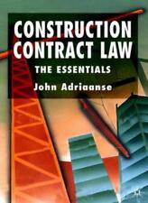 Construction Contract Law: The Essentials,John Adriaanse- 9780333980873