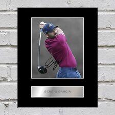 Sergio Garcia Signed Mounted Photo Display
