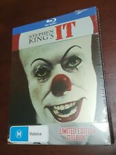 *NEW & SEALED* STEPHEN KING'S: IT (BLU RAY) STEELBOOK! Region B AUS Horror Movie