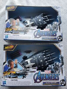 TWO NERF Power Moves Marvel Avengers Black Panther Slash Claw Roleplay Hasbro