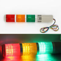 Industrial Red Green LED Signal Tower Lamp Warning Stack Light w// Buzzer Sound