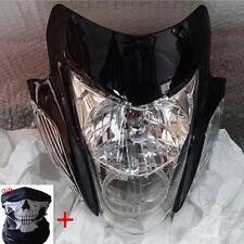 Motorcycle Bike Headlight Black Streetfighter Street fighter Head Light Lamp