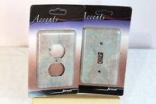 Wallpaper Design Light Switch Plate and Outlet Cover - Combo - Atron