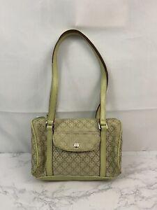 Liz Claiborne Villager Cotton Blend Canvas Shoulder Bag Womens Mint Purse R1