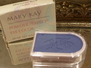 Mary Kay Powder Perfect Eye Color BRILLIANT BLUE 6204 Discontinued Made in USA