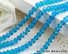 Faceted Rondelle Bicone Glass Crystal Loose DIY Beads Assorted 4mm 70pc blue