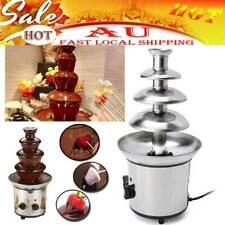 4 Tiers  Electric Chocolate Melting Machine Fondue Maker Fountain AU Plug 220V