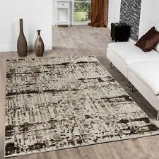 Decorative Large Soft Rugs Contemporary Area Rug Cream Brown Designer Carpets