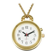 Ladies Gold Pendant Talking Watch with White Face