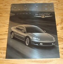 Original 2001 Chrysler Sebring Coupe Deluxe Sales Brochure 01