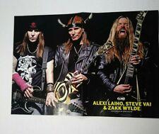 Guitar Magazine Poster Centerfold Steve Vai Zakk Wylde Alexi Laiho Bodom