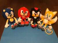"""Sonic the Hedgehog Plush Tails Knuckles Shadow 12"""" Sega Licensed US Shipping"""