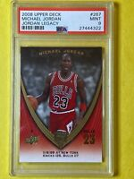 "Michael Jordan 2008 Upper Deck ""Jordan Legacy"" #257 Chicago Bulls - PSA MINT 9"