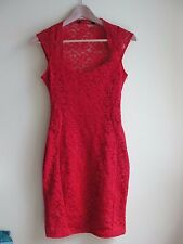 Red Jane Norman lace dress, Size 10, Never worn