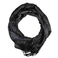 Bufandas y pañuelos de mujer estolas color principal negro