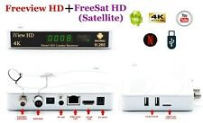 Android 4K Smart TV Freeview HD + FREESAT HD Combo Receiver Recorder Set Top Box