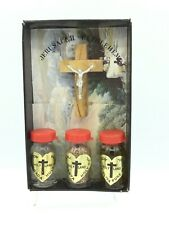 Holy Water Jerusalem Oil Soil Gift Set ,Cross Holy Land Crucifix Blessed Jesus