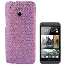 Hardcase Glitzer Style für HTC One Mini in hell lila Etui Hülle Cover Schutzcase