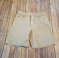Levis Size 32 Mens Denim Shorts 550 Relaxed Fit Khaki  Beige Jean Casual READ