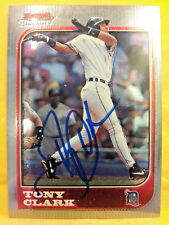 1997 BOWMAN CHROME TONY CLARK DETROIT TIGERS AUTOGRAPHED CARD IN PERSON 00094