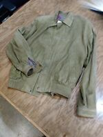 Green Goat Suede Guido Gabrielli Moto Jacket Size 2 Size Med