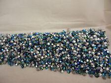 360 swarovski rhinestones in 28pp green turmaline AB/foiled #1100