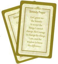 SERENITY  PRAYER  prayer card (Lot of 2 ) Laminated Christian prayer cards