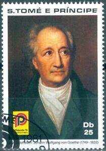 S. Tome e Principe 695A J. W. Goethe gestempelt