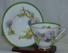 Royal Doulton Glamis Thistle H 4601 England Porcelain Cup & Saucer Set Curnock A