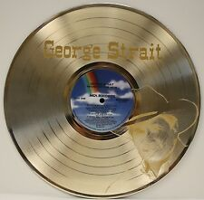 George Strait LTD Edition Laser Etched Image Gold LP Record Wall Art