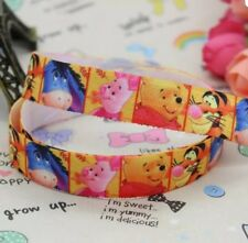 Winnie The Pooh & Friends Character 25mm Grosgrain Ribbon. Card Making or Bows