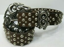 Nanni Womens Leather Belt Made in Italy Size Beautiful Condition!