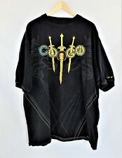 COOGI Black Short Sleeve Embroidered T-shirt Size 4XL