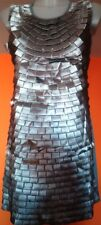 Abbigliamento moda DONNA VESTITO elegante colore GRIGIO Occasione