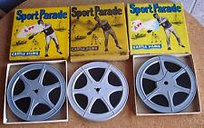 SPORT PARADE Castle Films set of 3 fishing films 8mm Tackle Busters 1950s