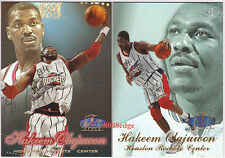 (2) 1997-98 FLAIR SHOWCASE ROW 2/3 PARALLEL: HAKEEM OLAJUWON #28 ROCKETS LOT