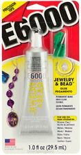 E6000 Jewelry & Bead Adhesive Precision Tips Permanent Bond Flexible Clear Glue