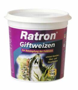 Giftweizen 1Kg Rattengift Rattenköder Mäusegift Mäuseköder Wühlmausgift Wühlmaus