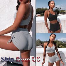 Women Tracksuit Activewear Sweatsuit Sports Suit Bra Tank Tops Shorts Yoga Pants