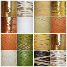 New !!!  10m / 20m CUT Raffia NATURAL SHADES * Flowers Gifts Crafts Scrapbooks