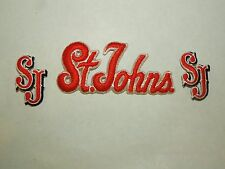 Lot of 3 St. John's University New York Iron On Patches Text Initials #3